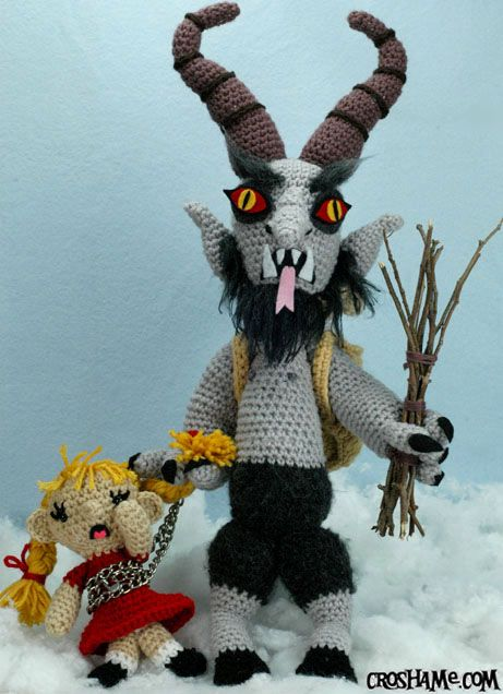 Crocheted Krampus. I LOVE THIS. I need to start working on it NOW to have it ready by next Christmas!!