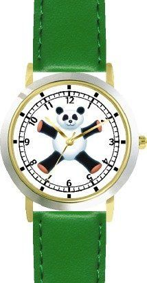 Giant Panda Bear Plush (Happy Face) - Bear - JP Animal - WATCHBUDDY® DELUXE TWO-TONE THEME WATCH - Arabic Numbers - Green Leather Strap-Size-Children's Size-Small ( Boy's Size & Girl's Size ) WatchBuddy. $49.95. Save 38% Off!