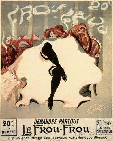 Le frou-frou Affiches par Lucien-Henri Weiluc sur AllPosters.fr