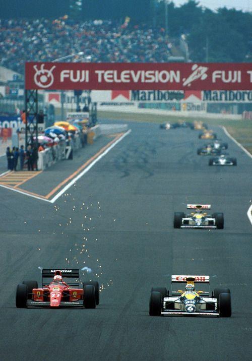 1989, Japan GP, Suzuka  Mansell & patrese