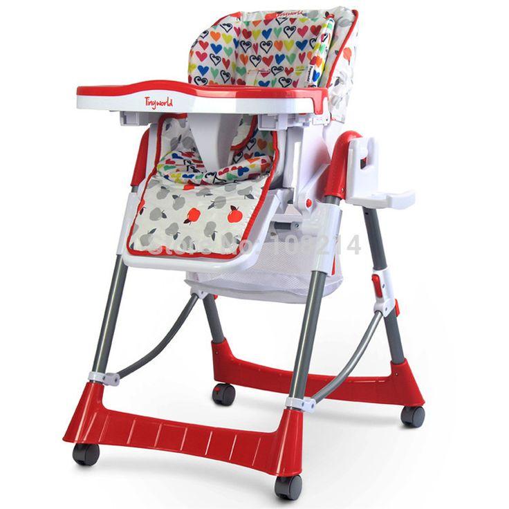 Легко распускать и мыть портативный складной дети едят стулья красный детский стульчик столовой подходит ребенка 0 - 4 лет ребенок есть стулья