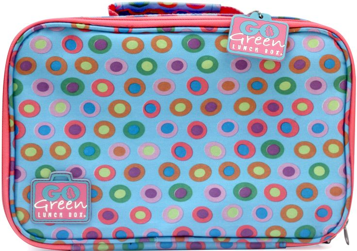 Go Green Lunch Box - one of 5 styles. Free from lead, BPA, and Phthalates