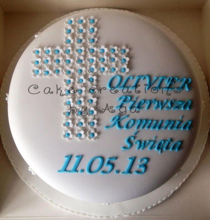 First holy comunion cake/ tort na komunie chłopca