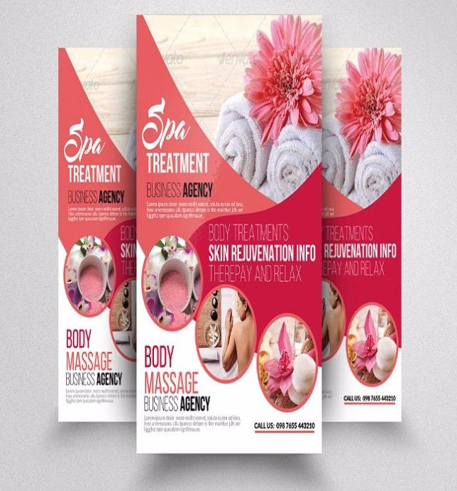 Spa Flyers Templates Free Download In PSD ,AI ,EPS Vector Format