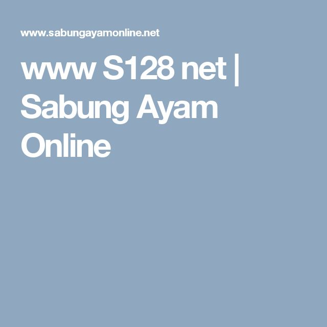 www S128 net | Sabung Ayam Online