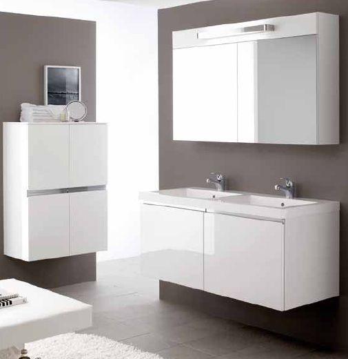 Мебель для ванной комнаты — Мебель для ванной двойная — Arbi Rimini 8 Комплект мебели 121 см с двойной раковиной цвет на выбор Комплектация:2xL416M Тумба;A532 Раковина;S732 Зеркало-шкаф