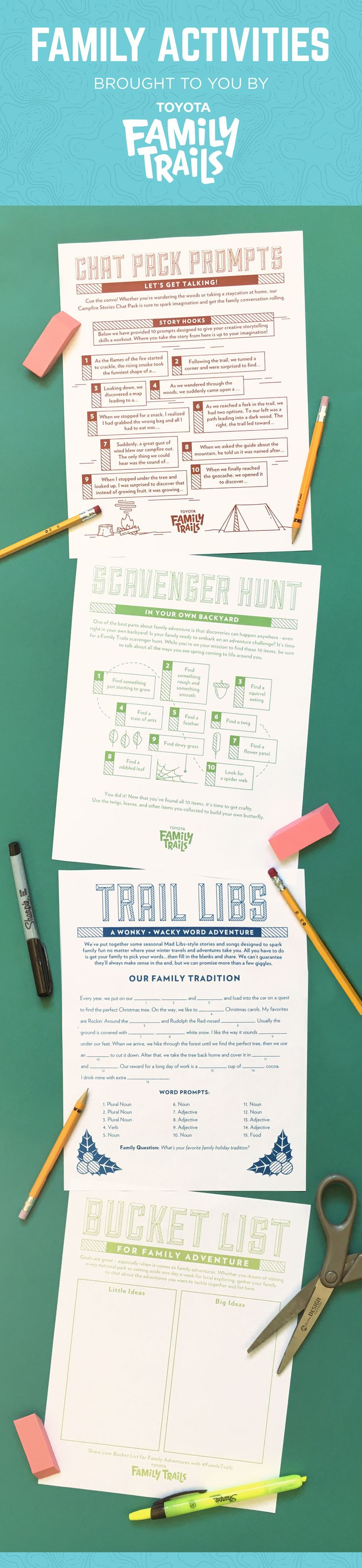 Holiday fun for the whole family! Free, kid-friendly activities brought to you by Toyota Family Trails. Click through to download and print! // #FamilyTrails