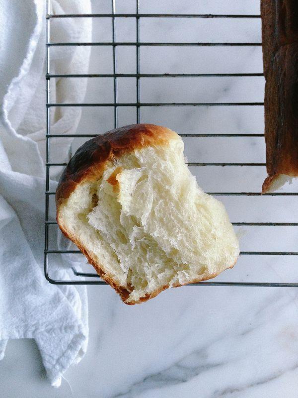 Slice of Fresh Brioche Bread