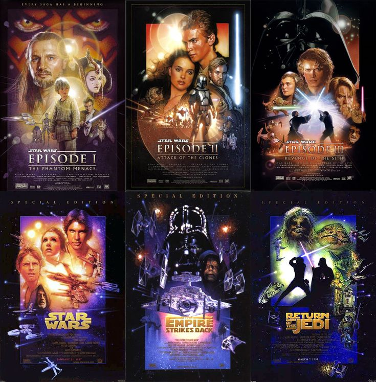Watch them all for FREE! Star Wars: I: The Phantom Menace II: Attack of the Clones III: Revenge of the Sith IV: A New Hope V: The Empire Strikes Back VI: Return of the Jedi