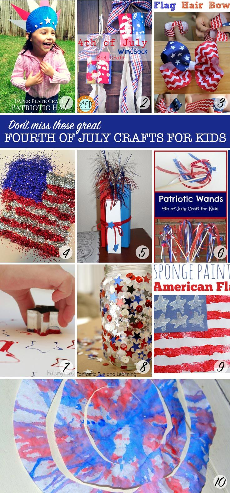 Love these ideas for Fourth of July crafts for kids to make!