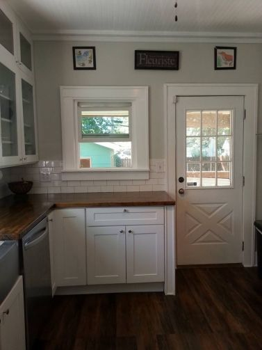 Behr Silver Drop Careth S Diy Kitchen Remodel