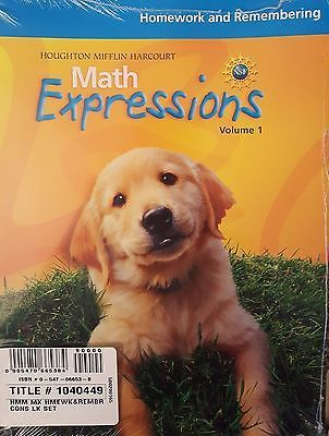 Math Expressions Homework and Remembering Volumes 1 & 2 Kindergarten Set NEW