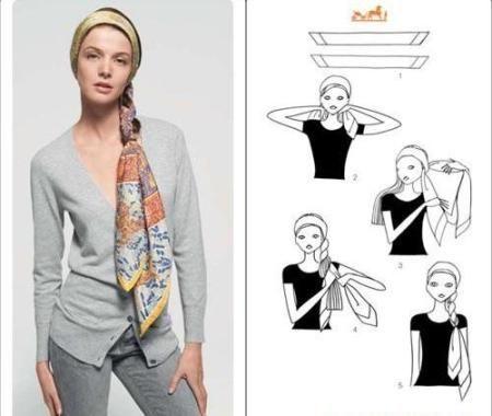 Как повязать платок на голове