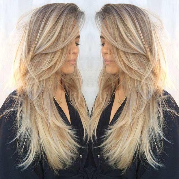 Stilvolles überlagertes Haar geschnitten für modische Mädchen