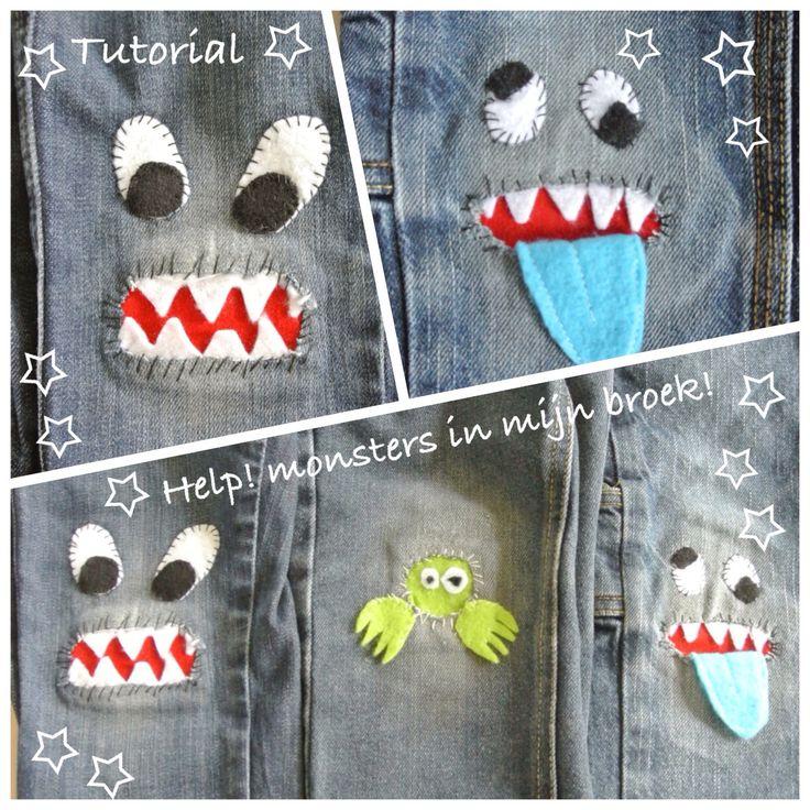 Tutorial monsters in mijn broek... http://creatievevingers.blogspot.be