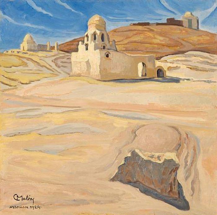 Assouan,1924-ΔΕΙΤΕ ΚΙ'ΑΛΛΑ ΕΡΓΑ ΕΔΩ O Κωνσταντίνος Μαλέας (Κωνσταντινούπολη, 1879 – Αθήνα, 1928) ήταν ένας από τους πλέον σημαντικούς μεταϊμπρεσιονιστές έλληνες ζωγράφους των αρχών του 20ού αι. Μαζί με τον Κωνσ…
