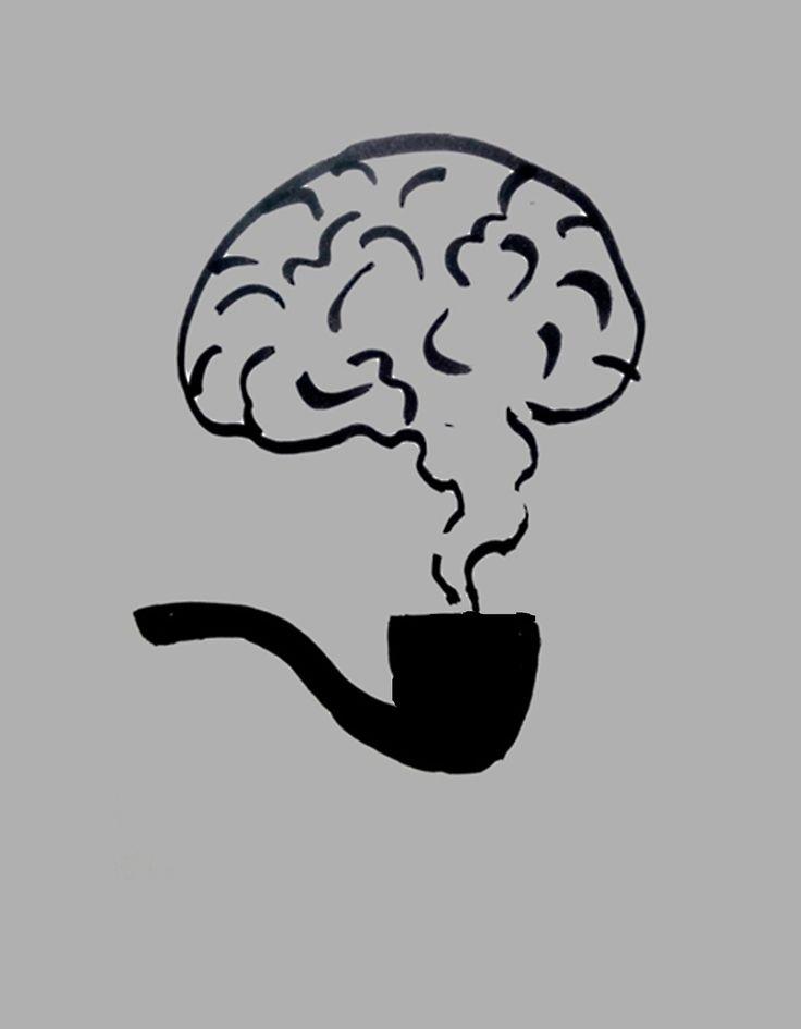 """Шерлок. Работы участников онлайн школы Айдентика. Задание """"Пиктограмма литературного персонажа"""", http://blog.romashin-design.com/ajdentika"""