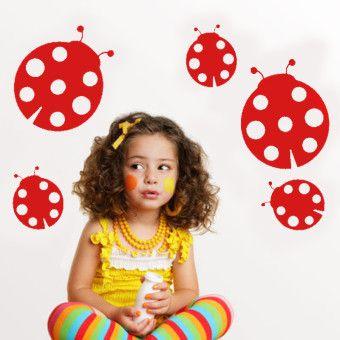 Dekorjinal  Uğur Böcekleri Çocuk Sticker - CC45