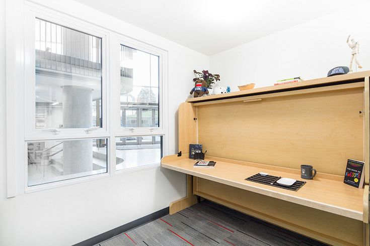 This 140 square foot micro-apartment is a prototype for student housing