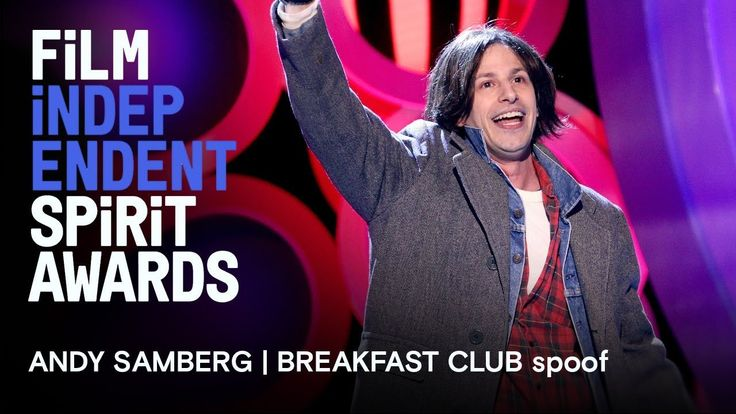 Andy Samberg | Breakfast Club in memoriam tribute | 2018 Film Independent Spirit Awards  Andy Samberg (or is it Judd Nelson?) sings a tribute to all of the actors and independent filmmakers about to be lost... to Hollywood!  The 2018 Fil...