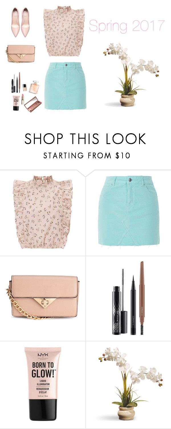 """Spring 2017"" by monika1555 on Polyvore featuring Topshop, MAC Cosmetics, NYX, National Tree Company and Urban Decay"