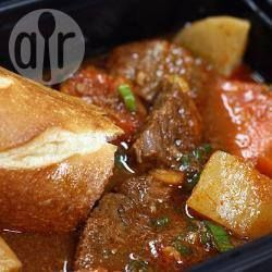 Rezeptbild: Scharfer Rindfleischeintopf aus dem Crock Pot