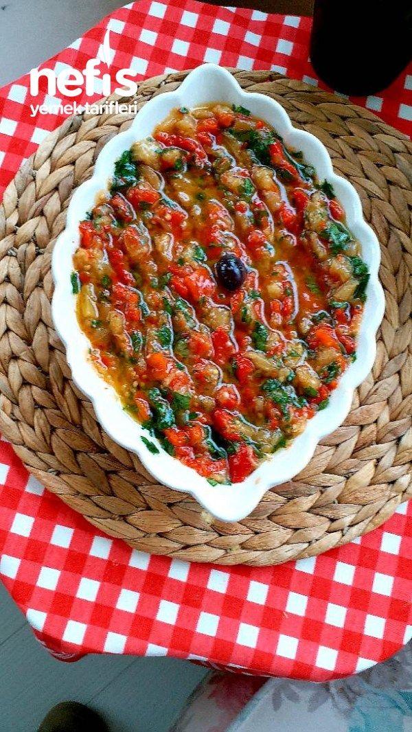Ege Usulü Patlıcan Salatası(1 Gün Evvel Salatası)