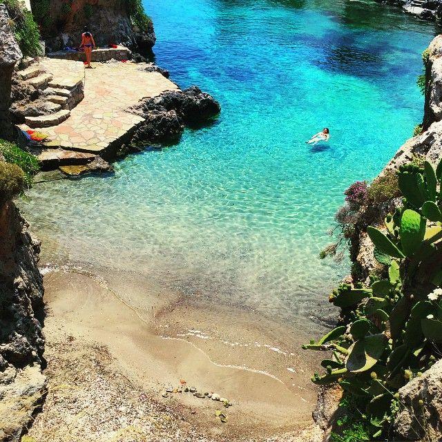 Hidden beaches in Avlemonas, Kythera. Greece