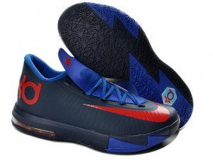 Discount Nike Zoom KD 6 Navy Royal Blue Red Shoes for sale Buy cheap kd 6