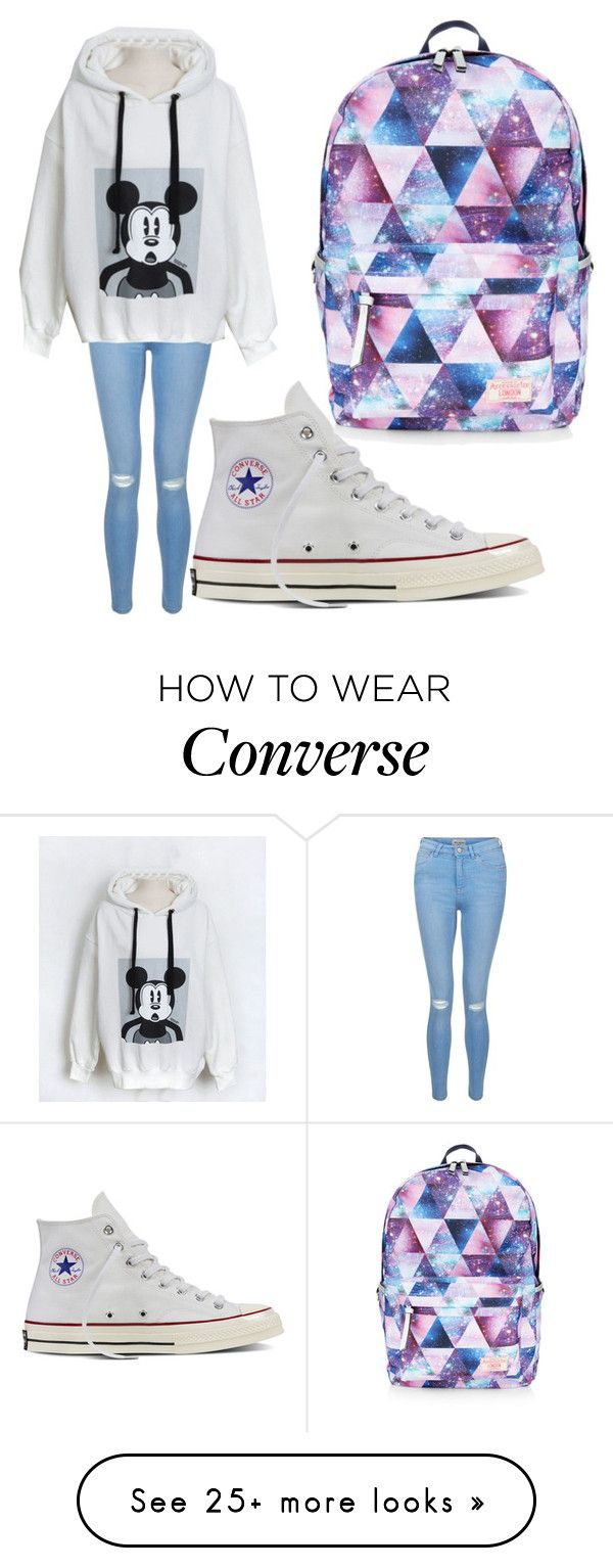 """Hoodie // Daisy"" by wattpad-lover-z on Polyvore featuring New Look, Converse and Accessorize"