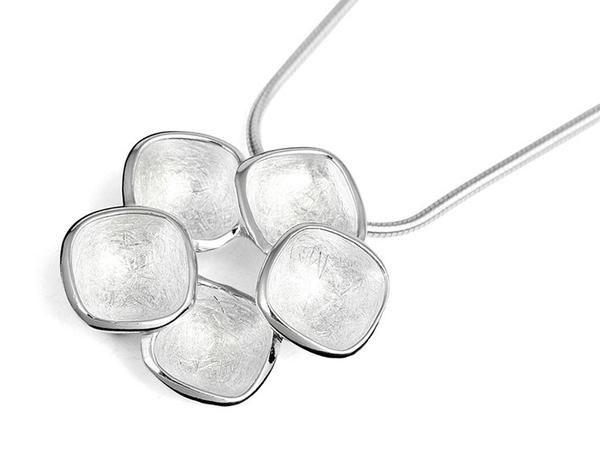 Silver Pendant - Flower Cups