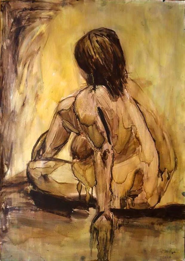 New artwork by Elvira Bozga Oil on paper; 70 cm x 100 cm. Elvira is a student of University of Art and Design Cluj-Napoca, Romania. See more of Elvira's art http://www.studentartworks.org/author/bozga-elvira/ www.studentartworks.org