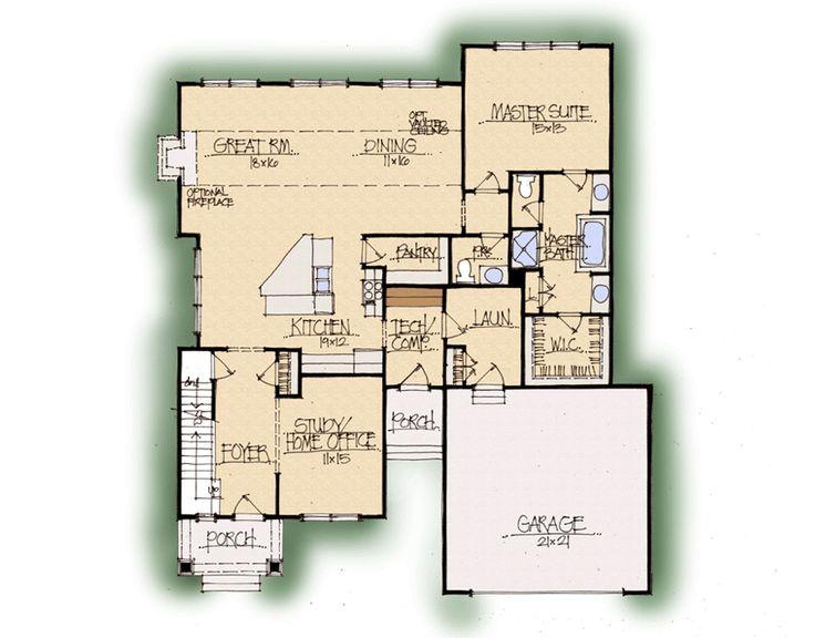 Aspen home plan earnhardt collection schumacher homes for Aspen house plans