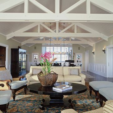 Living room cathedral ceiling design pictures remodel for Vaulted ceiling decorating ideas living room