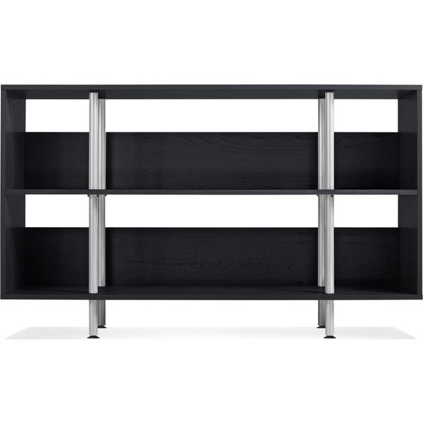 Blu Dot Chicago Lowboy ($599) ❤ liked on Polyvore featuring home, furniture, storage & shelves, bookcases, storage shelves, book shelves, shelving furniture, blu dot furniture and shelves bookcases