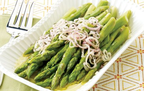 Roasted Asparagus Salad with Pecorino & Lemon Prep: 10 minutes ...