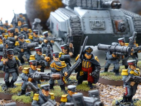 Warhammer 40k Mordian Iron Guard infantry for the Astra Militarum