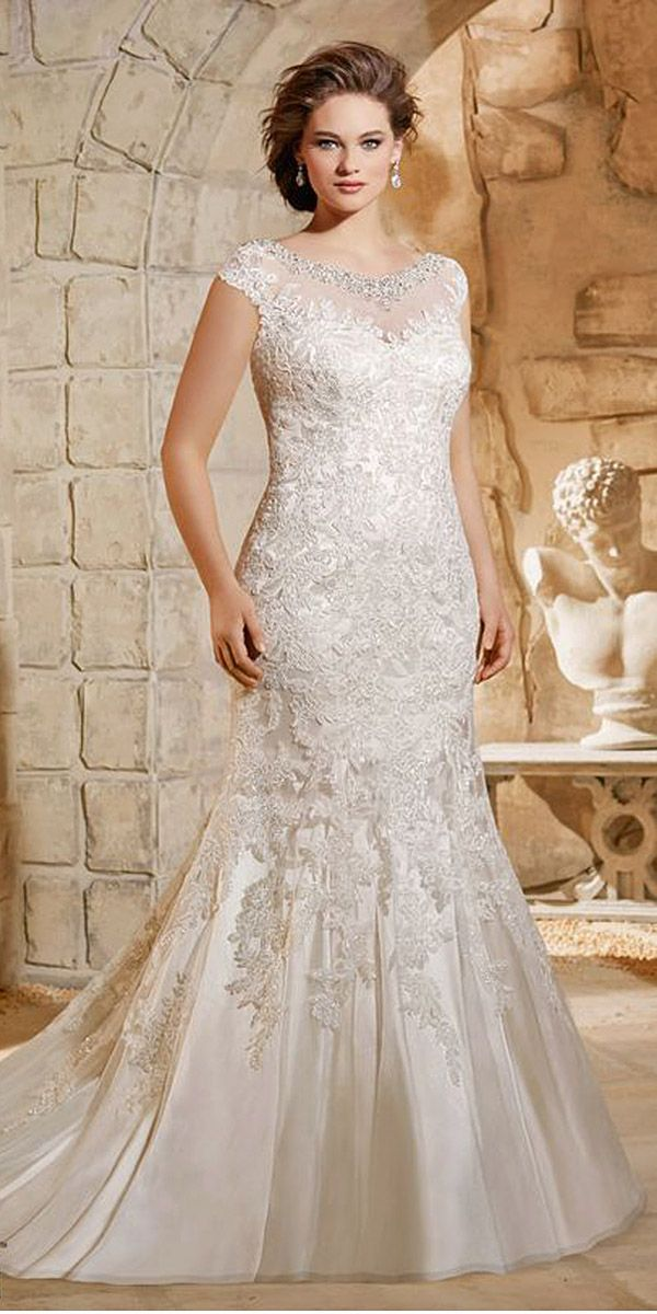18 Plus-Size Wedding Dresses: A Jaw-Dropping Guide ❤ We have selected the most beautiful plus-size wedding dresses. See more: http://www.weddingforward.com/plus-size-wedding-dresses/ #wedding #dresses