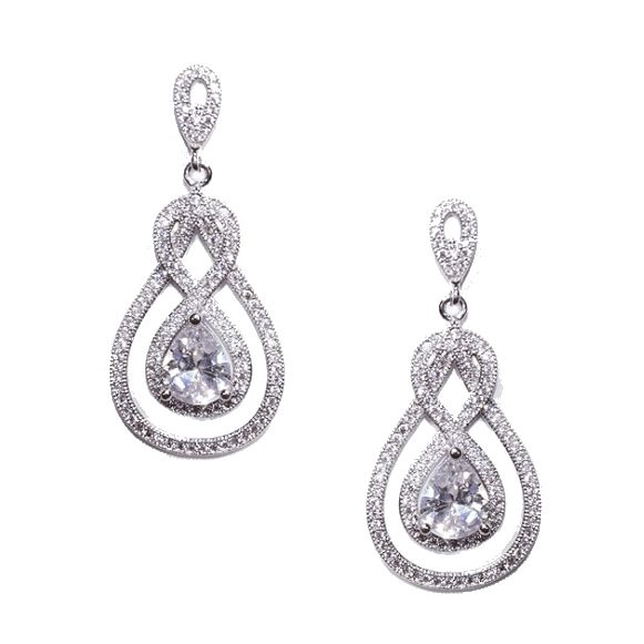 Ivory and Co Lexington Earrings - Bridal Jewellery - Crystal Bridal Accessories