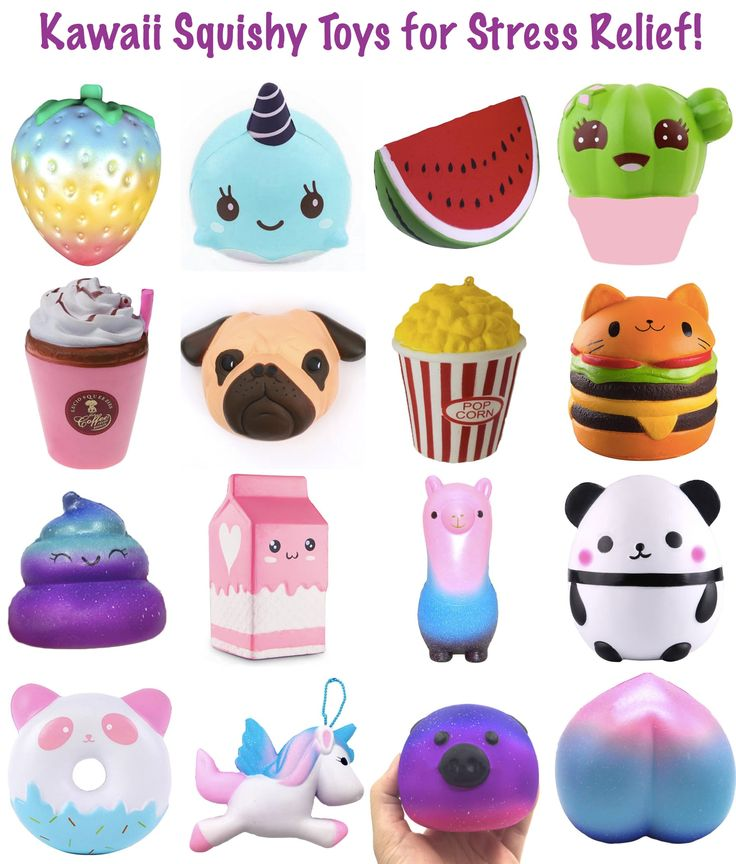 Kawaii Squishy Toys for Stress Relief! So cute and only $1-5