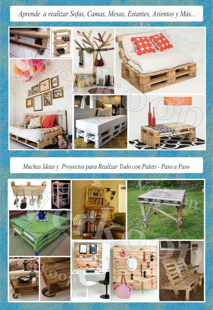 Palets curso muebles con palets puffs sofas camas for Como hacer muebles con palets