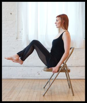 Sadie Nardini's Top 5 Chair Yoga Poses for Strength #yoga #yoganonymous