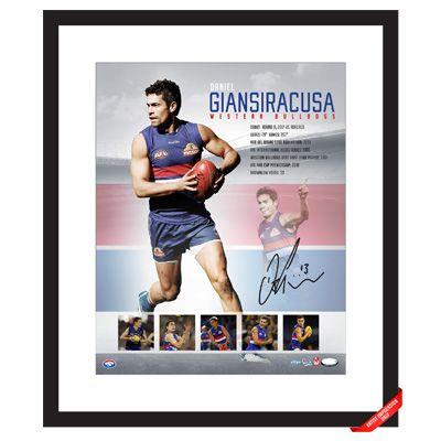 Daniel Giansiracusa Signed  & Framed Retirement Piece $295