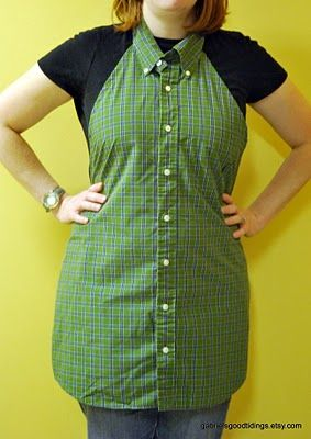 Gabriel's Good Tidings: Men's Dress Shirt Repurposed to Apron Tutorial -- Make