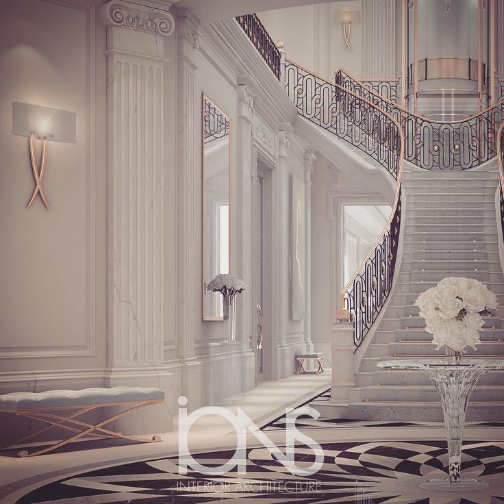 Queen Qatar Luxury Homes: Luxury Entrance Lobby Design