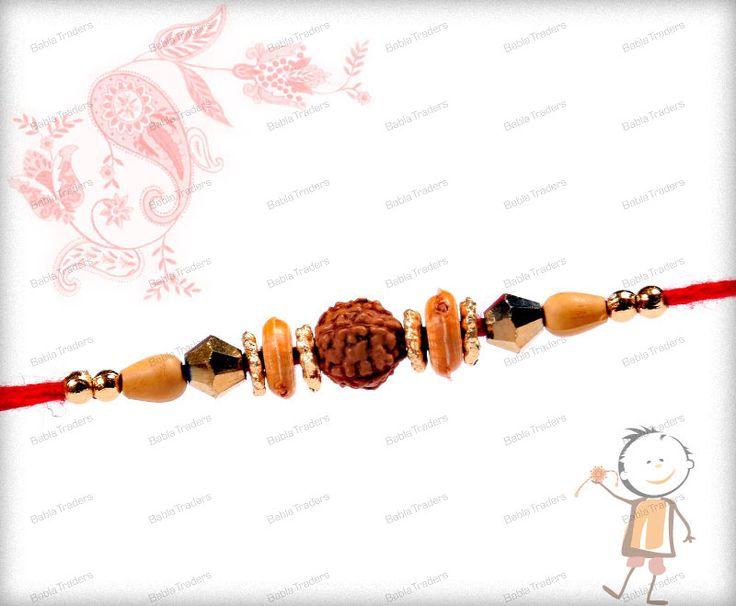 Rudraksh Rakhi - Buy & Send Rudraksh Rakhi for Brothers Online. Buy Online Fancy Rakhi - Babla Rakhi ✓ Starting Price at Rs. 250 ✓ Free Shipping India ✓ Rakhi Delivery Time : 2-3 Workings Days. Shop Now >>>> www.bablarakhi.com/48-send-rudraksh-rakhi-online