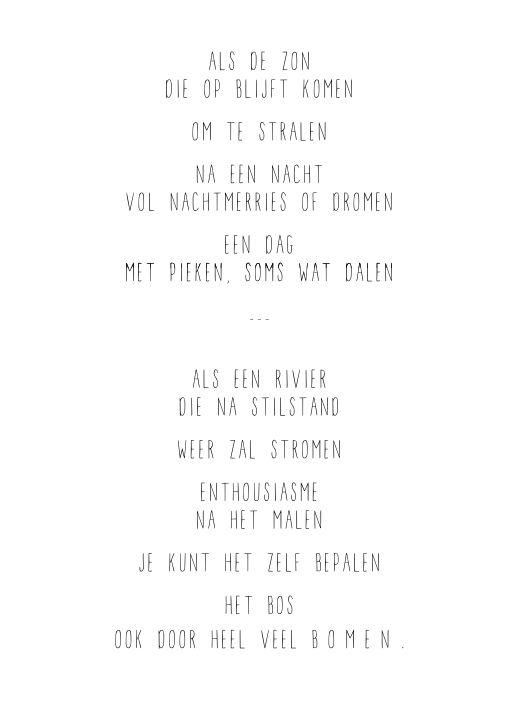 JIP. - Het bos, ook door heel veel bomen #gewoonjip #gedicht gewoonjip.nl