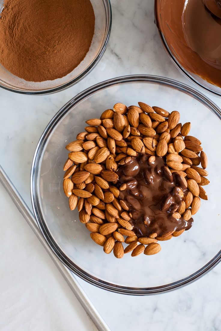 Cocoa Cinnamon Cayenne Covered Almonds I want to try making these with unsweetened chocolate.