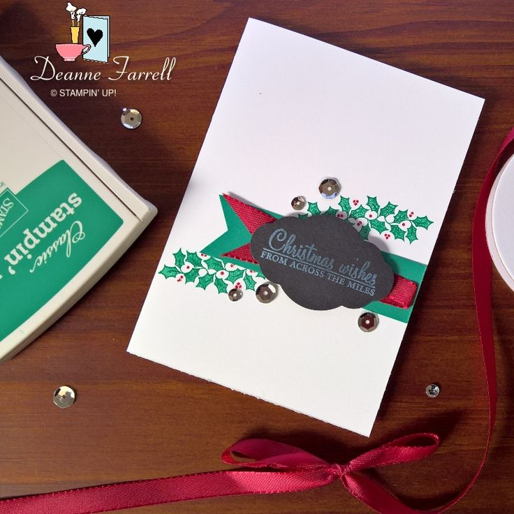 Stampin' Up! Christmas Wishes using Holly Berry Happiness Stamp Set