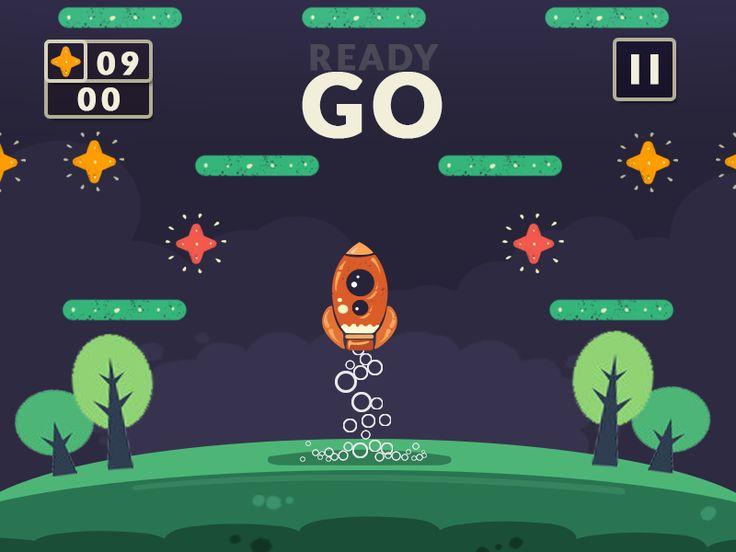 space themed endless arcade hopper galaxy rocket boost - Game Design Ideas